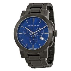 Chronograph Blue Dial Dark Grey Ion-plated Men's Watch