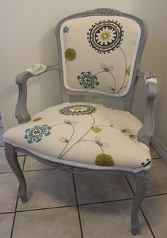 grey french chair