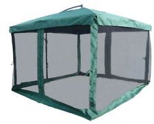 Good 10u0027X10u0027 OFFSET CANTILEVER UMBRELLA WITH SCREEN HOUSE GAZEBO PATIO SCREENED  TENT
