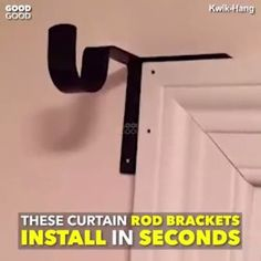 Hanging Curtains Made Ridiculously Easy. Kwik-Hang's revolutionary, no drill… Hanging Curtains Made Ridiculously Easy. Kwik-Hang's revolutionary, no drill curtain rod brackets install in seconds, saving [.