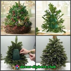 Make Christmas Decorations – 49 Decorating Ideas for a Beautiful Banquet Table - Xmas Christmas Flower Arrangements, Christmas Flowers, Noel Christmas, Christmas Centerpieces, Rustic Christmas, Winter Christmas, Christmas Tree Decorations, Floral Arrangements, Christmas Wreaths