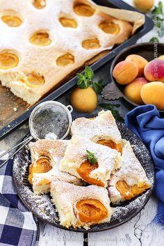 prajitura cu caise3 Romanian Desserts, Romanian Food, My Recipes, Cake Recipes, Cooking Recipes, No Cook Desserts, Sweet Cakes, Desert Recipes, Sweet Treats
