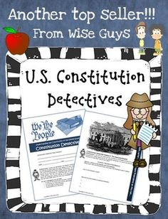 U.S. Constitution Detectives Activity! Your students become detectives and have to search through the U.S. Constitution to answer questions about this famous document. A great collaborative experience! $