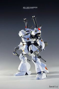 """MG 1/100 Kampfer """"Red and White"""" - Painted Build - Gundam Kits Collection News and Reviews"""