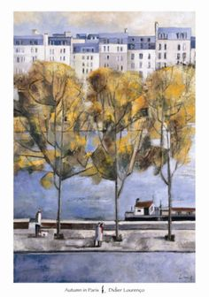 Autumn in Paris Print by Didier Lourenco at Art.com