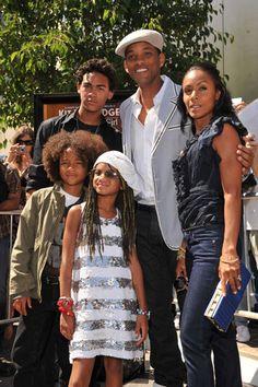 Will, Jada, Trey, Jaden & Willow Smith. Awesome family!