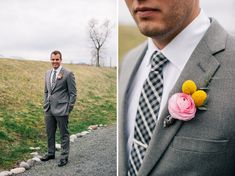ranunculus and billy ball boutonniere