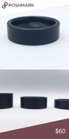 Black Tungsten Band Black tungsten Band, middle one in the 2nd pic. Accessories Jewelry