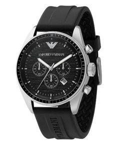 Emporio Armani Watch, Men's Chronograph Black Rubber Strap AR0527 Emporio Armani http://www.amazon.com/dp/B001AQ0LPC/ref=cm_sw_r_pi_dp_N2m8tb1Z29PMG