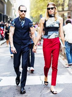 Veronika Heilbrunner and Justin O'Shea, the chicest couple
