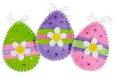 Pasqua: uova in feltro colorate