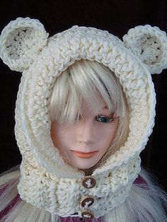 Cutecrocs easy crochet scarf patterns 26 crocheting easy crochet hat pattern goldilocks hood with ears or without age 5 to adult women and girls crochet for kids women dt1010fo