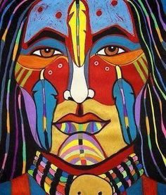 Rainbow Man, Warrior ~ George Littlechild ~ Canadian First Nations Artist Native American Paintings, Native American Artists, Native American History, Canadian Artists, Native American Indians, Native American Drawing, Kunst Der Aborigines, Rainbow Warrior, Arte Country