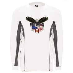 Show your 44th Medical Brigade w/Eagle pride with this White/Graphite Performance Long Sleeve Shirt. This performance shirt features 100% Polyester antimicrobial, moisture wicking fabric that will keep you cool, dry, and comfortable. THIS IS A PERFORMANCE FABRIC SHIRT, NOT COTTON. Designed, Printed & Sublimated in the USA -Fabric Imported.