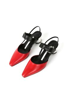 SALONDEJU red Lady Ball Slingback