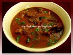 Serving for - 3      Ingredients      lamb / mutton - 500gm   puree of 1 big tomato   6-7 ts...