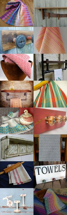 Hang it up - Towels and Racks by Beth on Etsy--Pinned with TreasuryPin.com