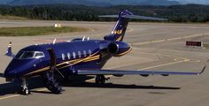 A Bombardier BD-100 Challenger 300 at Kristiansund airport August 10th 2014.