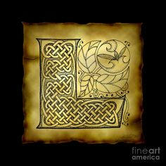 Image detail for -Celtic Letter L Monogram Mixed Media - Celtic Letter L Monogram Fine ...