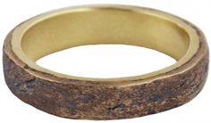 Aged bronze men's wedding band…looks like its made of wood!