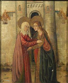 """""""La Visitación"""", Anónimo, Siglo XV"""