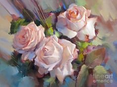 'Roses Creme De La Creme' by Alexey Shalaev #artpic.twitter.com/Y3W7ml4FhI