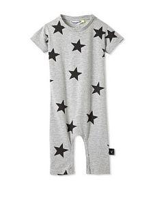NUNUNU Baby Star Play Suit