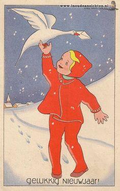 Happy new year - gelukkig nieuwjaar -Dutch illustrator Lies van Willes~...................lb xxx.QQQ