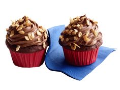Crunchy Chocolate Malt Cupcakes from FoodNetwork.com
