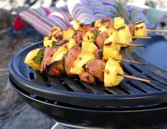 Grillspyd med nakkekotelett Potato Salad, Grilling, Potatoes, Meat, Chicken, Fruit, Ethnic Recipes, 40 Years, Food