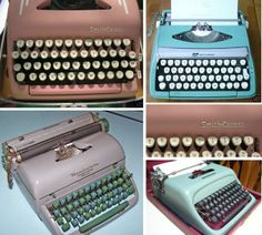 Pink, mint, turquoise. These vintage typewriters are the perfect shade.