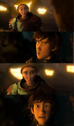 First meeting for hiccup and valka and hiccup
