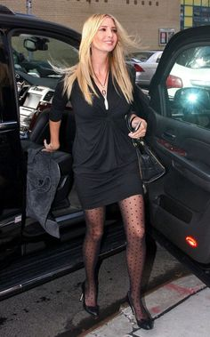 Ivanka Trump Tights - Ivanka Trum stepped out in polka-dot nylons for the 'Wendy William's' show in NYC. Ivanka Marie Trump, Ivanka Trump Photos, Ivanka Trump Style, Kate Middleton Jeans, Miley Cyrus Style, Makeup Looks For Green Eyes, Pantyhose Outfits, Pantyhose Legs, Great Legs