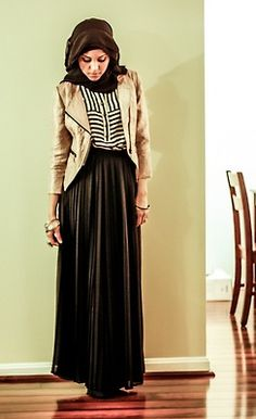 Love her style ;) ♥ hijab style
