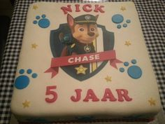 Paw Patrol/Chase taart