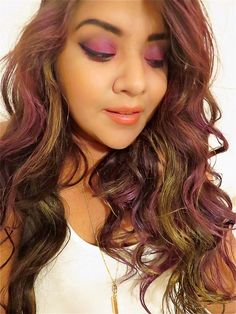 Vanessa Susana: It's all about the Rebel Hair! Punked Up Pink: (Fuchsia pink) , Gilty as Charged: Gold Shimmer. @Redken #ColorRebel #Beauty #blogger #Redken5thAve