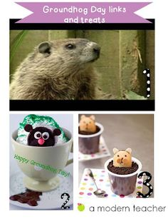 Groundhog Day links and treats www.amodernteacher.com