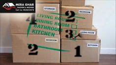 Packers and Movers in Kolkata - Mera Ghar-How To Label Your Boxes