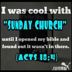 The Sabbath Day is to be kept holy. Not Sunday