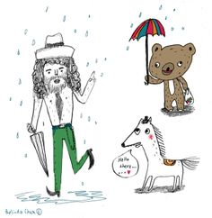 who is that in the rain? Rain, Pencil, Snoopy, Sketches, Thoughts, Fictional Characters, Rain Fall, Drawings, Doodles