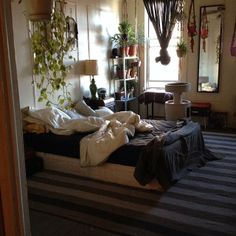 Bedroom full of plant life