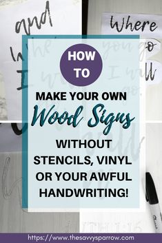 Want to learn how to make easy DIY farmhouse wood signs? Get my tutorial and learn the cheapest and easiest way to make farmhouse signs without stencils! Make Your Own Sign, How To Make Diy, Diy Wood Signs, Rustic Wood Signs, Living Room Decor Cozy, Rustic Farmhouse Decor, Sign Printing, Name Signs, Chicken Scratch