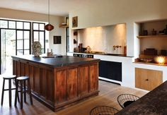 Contemporary country kitchen. Belgian Pearls. Kitchen by Belgian architect, Benoit Viaene. Photo by Jan Verlinde