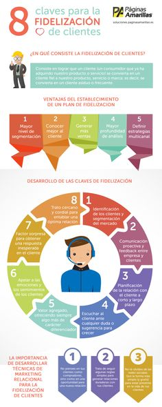 8 claves para la Fidelización de clientes  Aquí encontrarás infografías de temática relacionada con el Marketing Digital en general. #Marketing #MarketingDigital #Infografia