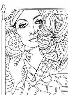 Reflections coloring page