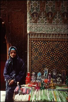 Morocco.Fez.Candles used as offerings in the Zaouia of Moulay Idriss.1994