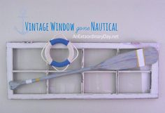 Vintage Nautical Window. AnExtraordinaryDay.net.