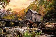 Glade Creek Mill by Lj Lambert Photography