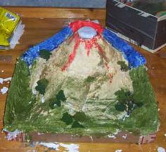 Week 16: How to make a re-usable volcano with dough, paper mache or plaster of paris