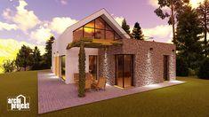 Projekt rodinného domu s názvom Castello, je dvojpodlažný dom s celkovou úžitkovou plochou 144,80 m². Dom ponúka na prízemí dostatok priestoru pre obývaciu izbu a kuchyňu s jedálenskou časťou, izbu, samostatné odvetrané WC a kúpeľňu, sklad potravín, garáž a skladovaciu miestnosť. Chodby sú navrhnuté s ohľadom pre úložný priestor typu roldor. Z obývacej izby je schodiskom sprístupnené poschodie, ktoré ponúka okrem malej kúpeľne spálňu a veľkú izbu s panoramatickým oknom a prístupom na terasu. Home Fashion, Cabin, Mansions, House Styles, Home Decor, Decoration Home, Manor Houses, Room Decor, Cabins